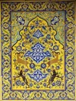 Safavid Tiles, Iran, Safavid Dynasty, Safavid, 17th century. Earthenware; Overall: 37 1/2
