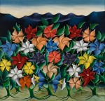 "Andre Saturne, (b.1927, Haitian), Mystical Flowers, 1950. Oil on hardboard, 29"" x 31 3/8"" (73.7 x 79.8 cm). Bequest of Winslow Anderson, 2008.5.95"