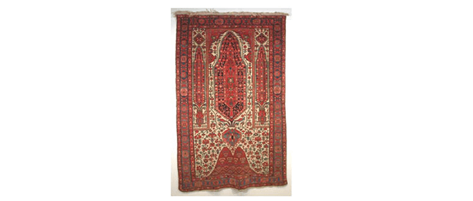 <p><b><i>Rug</i></b>, Western Iran, 19th century. Wool and cotton. Overall: 86 x 52&#8221;. Gift of Drs. Joseph and Omayma Touma and family, 2000.10.96.</p>