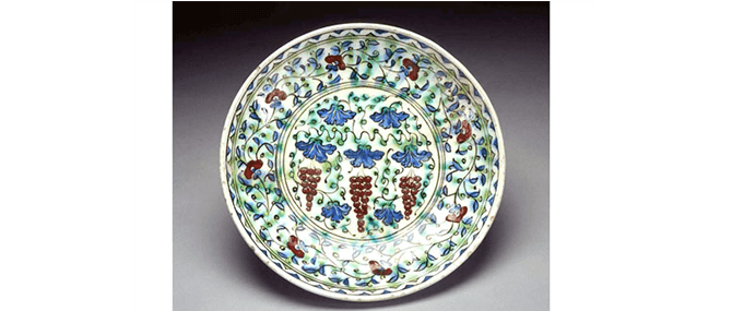 <p><b><i>Dish</i></b>, Iznik, Turkey, Ottoman, about 1600. Underglaze-painted fritware. Overall: 2 1/4&#8221; x 11 7/8&#8221;. Gift of Drs. Joseph and Omayma Touma and family, 2000.10.17.</p>