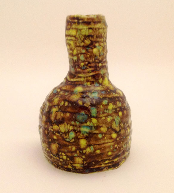 "Brandon Rakes of Guyan Valley Middle School, ""Container #2."" Ceramic. Instructor Mary Lou Decker."