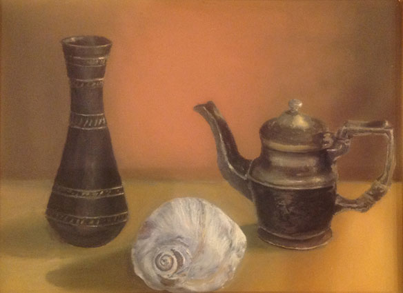 "Parvanee Karimpour of St. Joseph High School, ""Still Life."" Oil. Instructor Seth White."