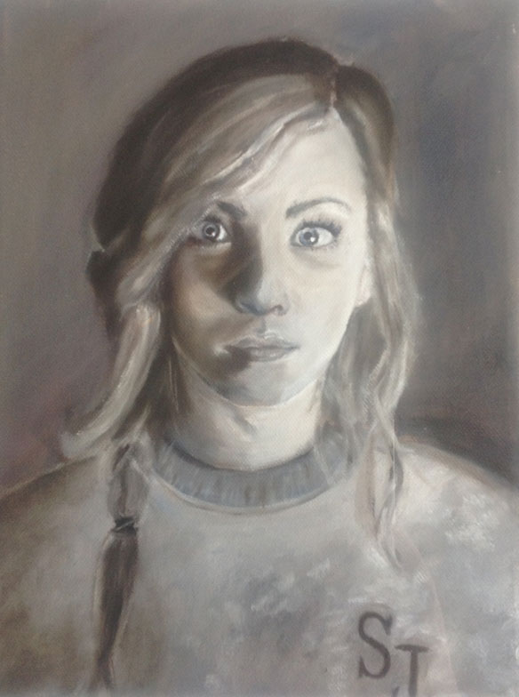 "Abigail Turner of St. Joseph High School, ""Abs Turner."" Oil. Instructor Seth White."