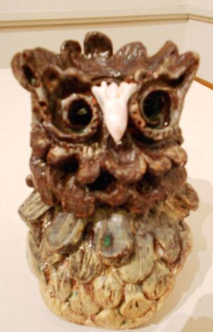 "Tyler Gaca of Huntington High School, ""Night Owl,"" Ceramic. Instructor Leslee Smith."