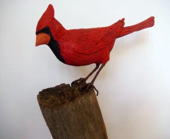 "Kaylee Webster of Wayne High School. ""Cardinal,"" Wood. Instructor Byron Johnson."