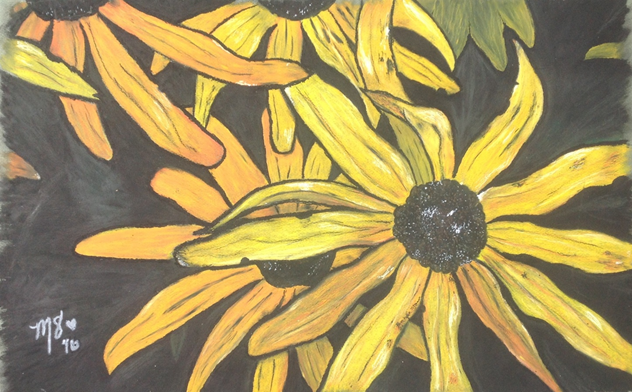 Morgan Sweeney, Maryland's Blooming Day, Huntington High School, Oil Pastel, Brianna Allen - Teacher