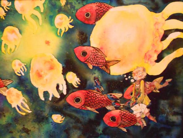 "Samantha Holmes of Paul G. Blazer High School, ""Hope,"" Watercolor. Instructor Jennifer Spade."