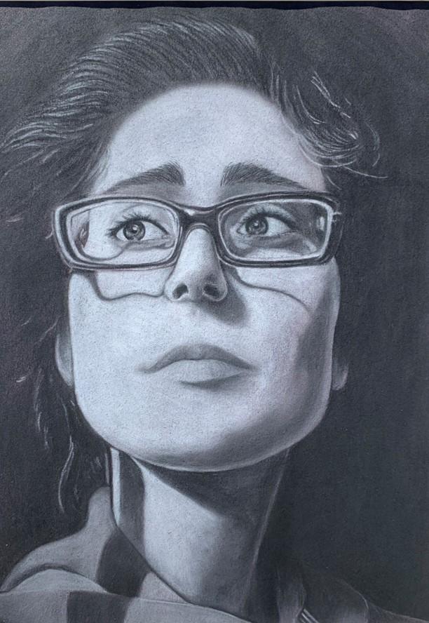 Self Portrait<br /> By Trinity Jones<br /> Teacher: Tiffany Perry<br /> Russell High School<br />