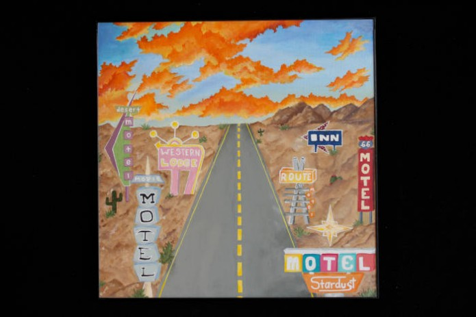 Alex Lindberg<br /> Route 66<br /> Acrylic <br /> Diana Frazier – Instructor<br /> Huntington High School