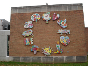 The Circle of Life is on an exterior wall at HMA.